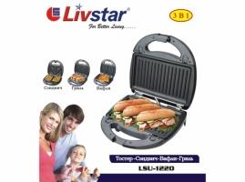 Сендвичница вафельница гриль Livstar LSU-1220
