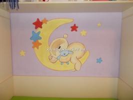 Роспись стен в детской для маленькой принцесы