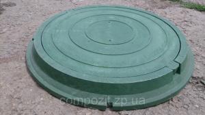 Люк полимерпесчаный в зеленом цвете нагрузка до 1.5 т.