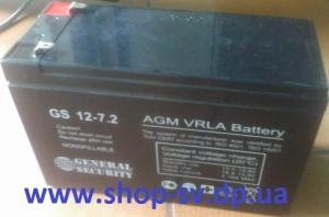 Аккумулятор GS 12v 7.2ah Акция