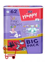 Подгузники Bella Happy Maxi 4+ BIG PACK 62 шт