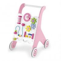 Ходунки-каталка розовые, Viga Toys (50178)