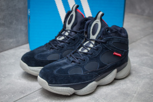 Зимние ботинки на меху в стиле Adidas Primaloft, темно-синий (30303),  [  42 43 45 46  ]
