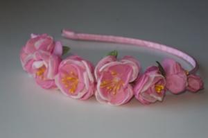 Весенний обруч для волос «Ветка Сакуры» от автора handmade Анны Юриной