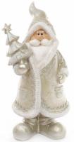 Фигурка декоративная «Санта Клаус в серебряном с елкой» 22.5см