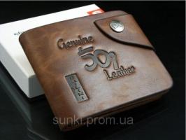 Мужской кошелек портмоне Bailini Genuine Leather