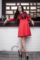 Платье «Юка» 15551 (красный)