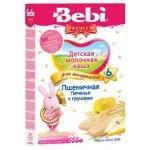 Молочная пшеничная каша для полдника с печеньем и грушами Bebi Premium, 200 гр.