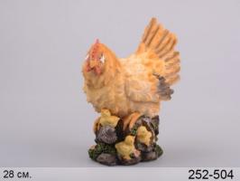 Фігурка декоративна «Квочка з курчатами» 28 см