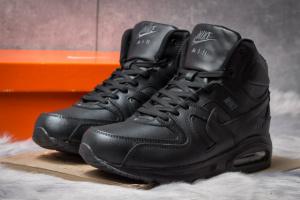 Зимние ботинки на меху в стиле Nike Air Max, черные (30471),  [  44 45 46  ]