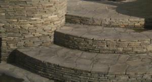 Укладка камня песчаника