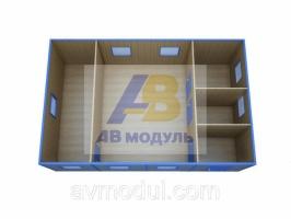 Быстровозводимый, модульный офис проект ЕВРО-4