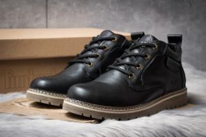 Зимние ботинки на меху в стиле Timberland, черные (30591),  [  40 41 43  ]