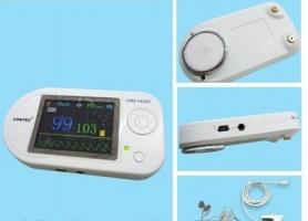Электронный стетоскоп CMS-VESD 2.4« цветной LCD дисплей: ЭКГ, ЧСС, SpO2, частота и форма пульса+ПО