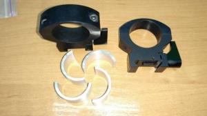 Быстросъемные кольца на вивер. Труба прицела 30 мм/1 дюйм.