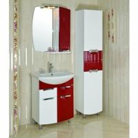 Комплект в ванную комнату «Премиум» (красный) 65 см