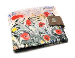 Женский кошелек «Маки. Картина на воде»
