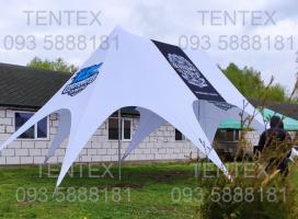 Шатер «Звезда-2» размер 8x11м. Двухмачтовая палатка для мероприятий, Харьков, Киев, Львов