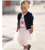 Детский костюм-тройка на девочку (юбка,кофта, футболка)