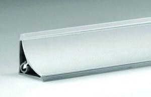 Плинтус алюминиевый гладкий на столешницу H-30 мм L-4 м
