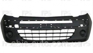 Бампер передний без отверстиями под противотуманки на Рено Кенго 2009-