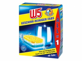 Таблетки для посудомоечной машины W5 40 шт