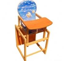 Деревянный детский стульчик стул для кормления