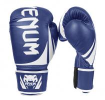 Перчатки боксерские кожаные VENUM Challenger синие 10,12 oz