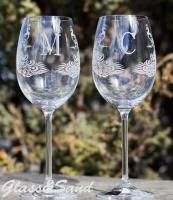 Свадебные бокалы для вина (Bohemia).