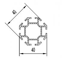 2629 алюминиевый профиль (стойка восьмиугольная) Турция