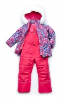 Зимний детский костюм-комбинезон для девочки