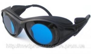Очки защитные 600-1100 nm. O.D.+6 для лазера диодного, александрит, рубинового, неодим Корея
