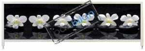 Экран под ванну Пан Билан - АРТ 150см. Орхидеи на черном-2