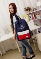 3-75 молодежный рюкзак / стильный / вместительный / женский рюкзак Цвет - синий