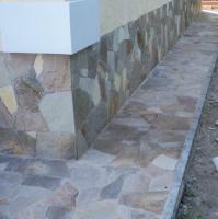 Укладка камня гранита песчаника плитняка