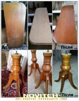 Реставрація столів, тонування, фарбування, лакування столів, крісел.