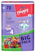 Подгузники Bella Happy 4 BIG PACK (8-18 кг) 70 шт
