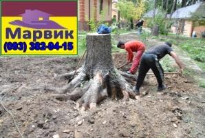 корчевание пней и деревьев Киев