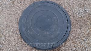 Люк полимерпесчаный круглый, нагрузка до 0,8 т. в черном цвете