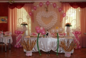 свадьба бело -розовая