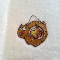 Позитивный декор «Мурзик и Золотая рыбка»