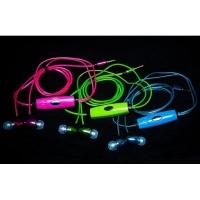 Светящиеся наушники с микрофоном Light Earphone (качественный звук)