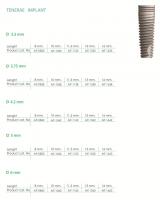 Tenerae implants D 3,3 ,3,75 ,4,2 ,5 ,6 ,  L 8 ,10 ,11,5 ,13 16