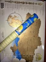 Скретч Карта Украины (в тубусе)