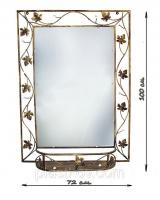 Кованое зеркало с полочкой.