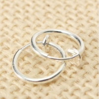 Cерьга кольцо обманка 10 мм для пирсинга (носа,ушей,губ) с фиксатором