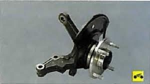 Замена передней ступицы (поворотного кулака)