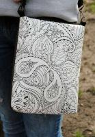 Универсальная сумка через плечо «Черно белое»