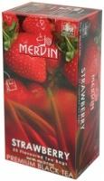 Чай Mervin черный Клубника пакетированный 25*2 грам
