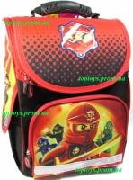 Рюкзак каркасный ортопедический школьный для мальчика Ниндзяго Ninjago, начальная школа, 1-3 класс